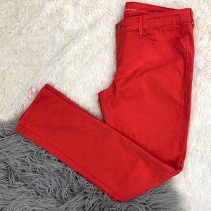 Levi's Jeans Demi Curve Modern Rise Skinny Orange